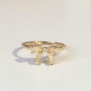 華奢なリボンのピンキーリング(リング(指輪))