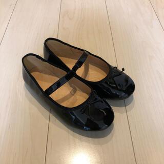 ジーユー(GU)の21cm  黒 靴 女児(フォーマルシューズ)