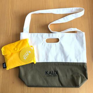 カルディ(KALDI)の❁︎mona さま専用❁︎KALDI ショルダーバッグ(サコッシュ)&エコバッグ(日用品/生活雑貨)