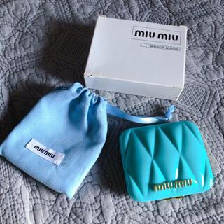 miumiu - miumiu香水の限定ノベルティミラー 水色 新品