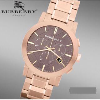 BURBERRY - 鑑定済BU9353Burberryバーバリーピンクゴールド高級腕時計
