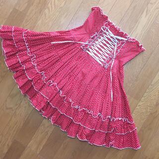 ATELIER PIERROTコルセットスカート(ひざ丈スカート)