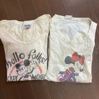 ジャンクフード(JUNK FOOD)のミッキーミニーtシャツ2枚セット(Tシャツ(半袖/袖なし))