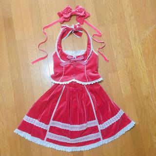 アンジェリックプリティー(Angelic Pretty)のAngelic Pretty ベスト&スカート&ヘッドドレス(ひざ丈ワンピース)