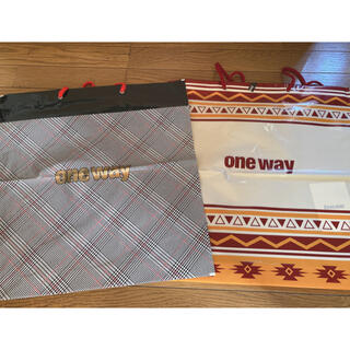 ワンウェイ(one*way)のoneway限定ショップ袋 セット(ショップ袋)