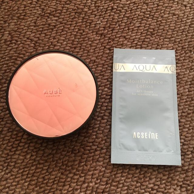 AUBE couture(オーブクチュール)のAUBEオーブクチュール デザイニングパフチーク ローズ コスメ/美容のベースメイク/化粧品(チーク)の商品写真