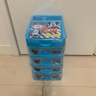 ディズニー(Disney)のディズニー ミッキー 5段ボックス 収納 プラケース 引き出し ペン立て(ケース/ボックス)