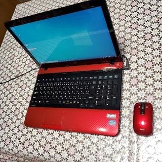 エヌイーシー(NEC)のかなり綺麗❗SSDに交換。レッドNECノートパソコン(ノートPC)