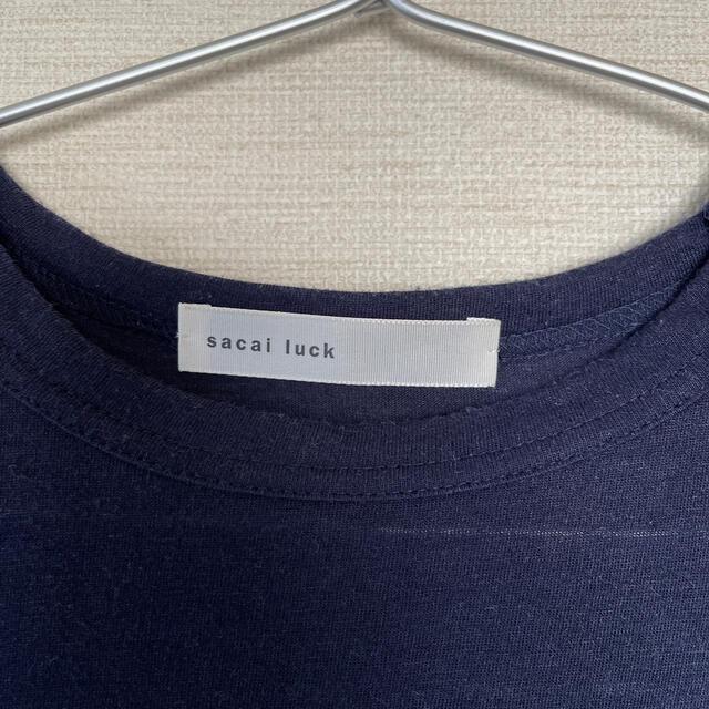 sacai luck(サカイラック)のsacai luck 半袖フリンジTシャツ レディースのトップス(Tシャツ(半袖/袖なし))の商品写真