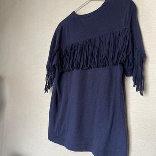 サカイラック(sacai luck)のsacai luck 半袖フリンジTシャツ(Tシャツ(半袖/袖なし))