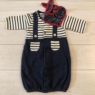 Nishiki Baby - ボーダー切替 ツーウェイオール 50〜60