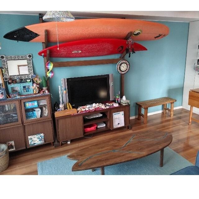 サーフボードテーブル インテリア/住まい/日用品の机/テーブル(ローテーブル)の商品写真