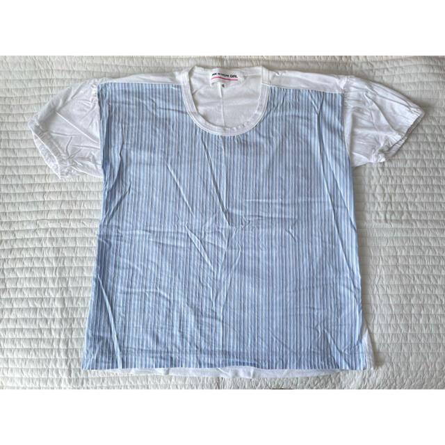 COMME des GARCONS(コムデギャルソン)のコムデギャルソンガール CDG GIRL ストライプ シャツ Tシャツ Sサイズ レディースのトップス(Tシャツ(半袖/袖なし))の商品写真