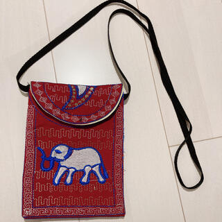 サンタモニカ(Santa Monica)のゾウさん刺繍ポシェット(ショルダーバッグ)