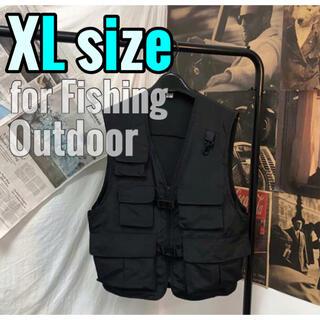 XLサイズ フィッシングベスト アウトドア 多機能ベスト キャンプ ミリタリー(ウエア)