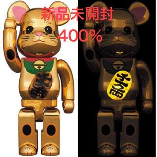 メディコムトイ(MEDICOM TOY)のBE@RBRICK 招き猫 金メッキ 発光 400%(その他)
