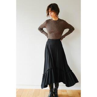 ステュディオス(STUDIOUS)の19aw CLANE FRILL PLEAT VOLUME SKIRT ブラック(ロングスカート)