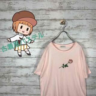 ブラウニービー(Brownie bee)の【人気】ブラウニー Tシャツ 刺繍ロゴ 薔薇刺繍 ビックサイズ オーバーサイズ(Tシャツ/カットソー(半袖/袖なし))
