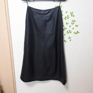 ギンザマギー(銀座マギー)の美品 羊革ロングスカート Mサイズ(ロングスカート)