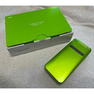 キョウセラ(京セラ)のガラケー GRATINA  緑色(携帯電話本体)