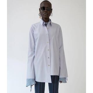 アクネ(ACNE)のAcne Studios コットンデザインシャツ ホワイト(シャツ/ブラウス(長袖/七分))