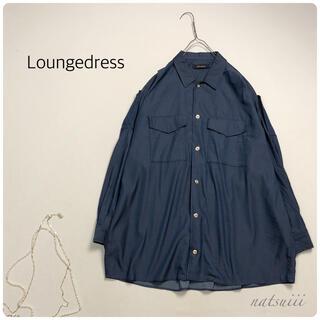 ラウンジドレス(Loungedress)のラウンジドレス . ビッグシルエット インディゴ シャンブレー ブラウス(シャツ/ブラウス(長袖/七分))