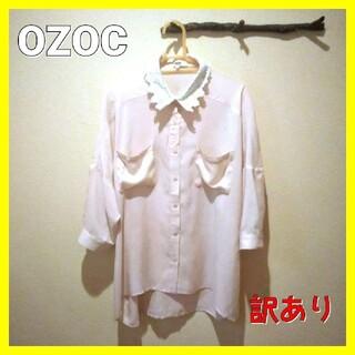 オゾック(OZOC)のOZOC オゾック 春色シアーシャツ シアーブラウス とろみシャツレディース春服(シャツ/ブラウス(長袖/七分))