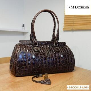 J&M DAVIDSON - 美品 J&M Davidson クロコ型押しレザー ハンドバッグ
