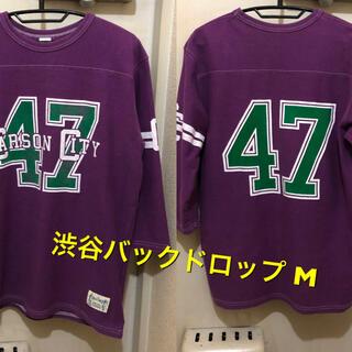 バックドロップ(THE BACKDROP)のMサイズ!渋谷バックドロップ BACK DROP古着七分袖フットボールTシャツ (Tシャツ/カットソー(七分/長袖))