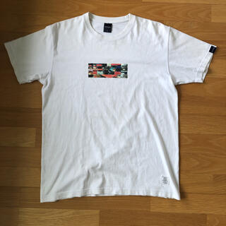 アップルバム(APPLEBUM)のアップルバム tシャツ ホワイト L スニーカー BOXロゴ 半袖 シャツ 白(Tシャツ/カットソー(半袖/袖なし))