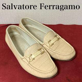 サルヴァトーレフェラガモ(Salvatore Ferragamo)のサルヴァトーレ フェラガモ Ferragamo  ビットモカシン クロコ型押し(ローファー/革靴)