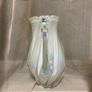 ボヘミア クリスタル(BOHEMIA Cristal)の即日発送 クラタクラフトグラス オーロラ クリスタル 花瓶 アンティーク レトロ(花瓶)