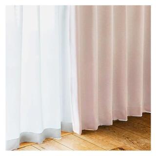 ウニコ(unico)のunico クローラル 100×135cm ピンク カーテン(カーテン)