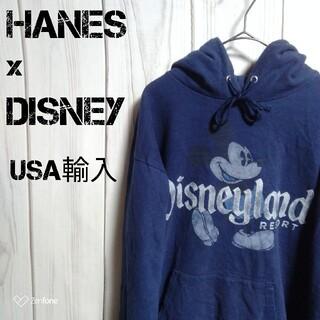 ヘインズ(Hanes)のUSA輸入 HANES Disney プルオーバー パーカー デカロゴ(パーカー)