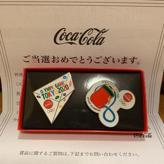 コカコーラ(コカ・コーラ)の非売品 コークオン オリジナル ペアピンズ(バッジ/ピンバッジ)