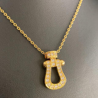 FRED - 【特別価格】ホースシューネックレス ゴールド アクセサリー馬蹄 ストーン