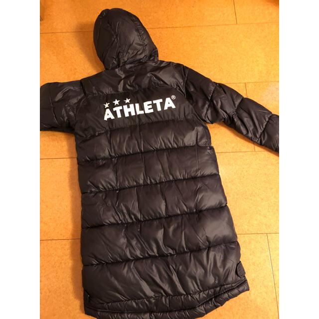 ATHLETA(アスレタ)のATHLETA ベンチコート黒 150 キッズ/ベビー/マタニティのキッズ服男の子用(90cm~)(コート)の商品写真