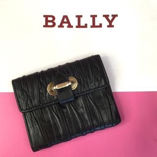 バリー(Bally)の大処分セール!バリー コンパクト財布 キルティング レザー 三つ折り 黒(財布)