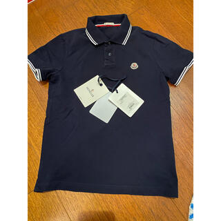 MONCLER - モンクレール ポロシャツ ボーダー ネイビー Moncler ポロ