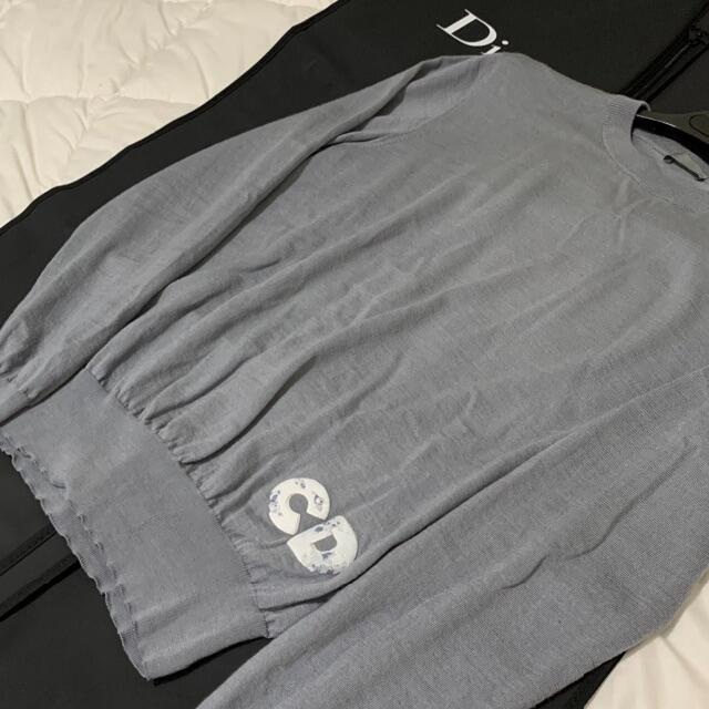 DIOR HOMME(ディオールオム)の専用 DIOR 20SS ARSHAM 'CD' LOGO SILK KNIT メンズのトップス(ニット/セーター)の商品写真