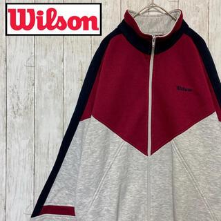 ウィルソン(wilson)の〔古着〕wilson ウィルソン ジップスウェット 刺繍ロゴ(スウェット)