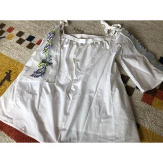 トッコ(tocco)の美品刺繍シースルーシャツ (シャツ/ブラウス(半袖/袖なし))
