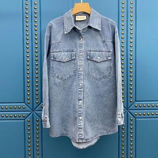 Gucci - 限定刺繡パターンデニムシャツ