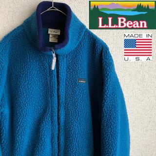 エルエルビーン(L.L.Bean)の90s USA製 L.L.BEAN フリース ブルゾン ジャケット キッズ L(その他)