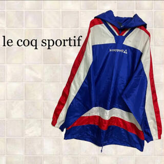 ルコックスポルティフ(le coq sportif)のle coq sportifルコックスポルティフ デザイン ナイロン パーカー(ナイロンジャケット)