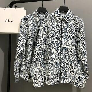Dior - ファッションフルプリントのロゴシャツ