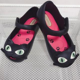 メリッサ(melissa)のミニメリッサ  minimelissa ウルトラガール 黒ネコ サンダル セレブ(サンダル)