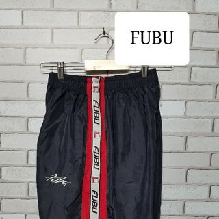 FUBU - FUBU フブ ナイロンパンツ 90s ワイド サイドライン ビンテージ