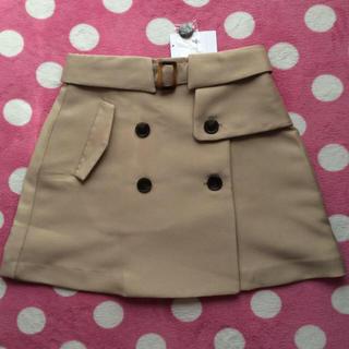 ダズリン(dazzlin)の新品♡トレンチ風台形スカート(ミニスカート)