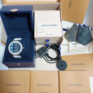LOUIS VUITTON - 新品バッテリーに交換済 ルイヴィトン タンブールホライゾン 時計 ホワイト 美品